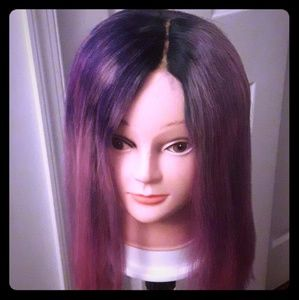 Water colored 613 closure wig